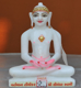 """Picture of Super White Simandhar Swami 9"""" Murti 9S15"""