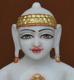 """Picture of Super White Simandhar Swami 9"""" Murti 9S33"""