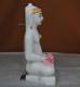 """Picture of Super White Simandhar Swami 9"""" Murti 9S35"""