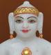 """Picture of 7S11 Super White Simandhar Swami 7"""" Murti 7S11"""