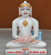 """Picture of 7S17 Super White Simandhar Swami 7"""" Murti 7S17"""