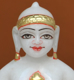 "Picture of 7S22 Super White Simandhar Swami 7"" Murti 7S22"
