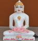 """Picture of 7S35 Super White Simandhar Swami 7"""" Murti 7S35"""