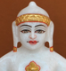 "Picture of 7S37 Super White Simandhar Swami 7"" Murti 7S37"