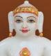 """Picture of 7S38 Super White Simandhar Swami 7"""" Murti 7S38"""