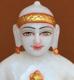 """Picture of 7S42 Super White Simandhar Swami 7"""" Murti 7S42"""