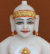"Picture of 7S51 Super White Simandhar Swami 7"" Murti 7S51"