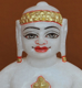 "Picture of 7S68 Super White Simandhar Swami 7"" Murti 7S68"