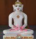 "Picture of 9N14 Normal White Simandhar Swami 9"" Murti 9N14"