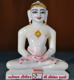 "Picture of 9N7 Normal White Simandhar Swami 9"" Murti 9N7"
