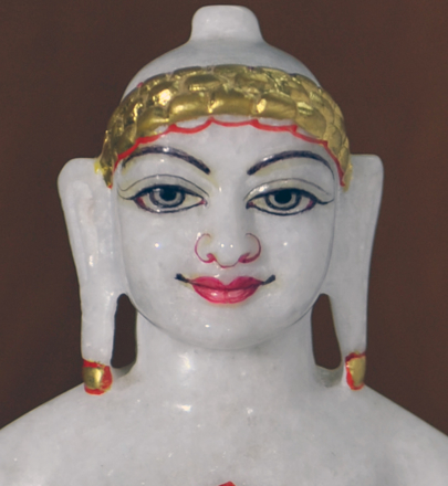 "Picture of 9N9 Normal White Simandhar Swami 9"" Murti 9N9"