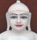 """Picture of 13S18 Super White Simandhar Swami 13"""" Murti 13S18"""
