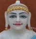 """Picture of 13S23 Super White Simandhar Swami 13"""" Murti 13S23"""