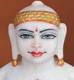"""Picture of 13S24 Super White Simandhar Swami 13"""" Murti 13S24"""