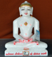 "Picture of 13S34 Super White Simandhar Swami 13"" Murti 13S34"