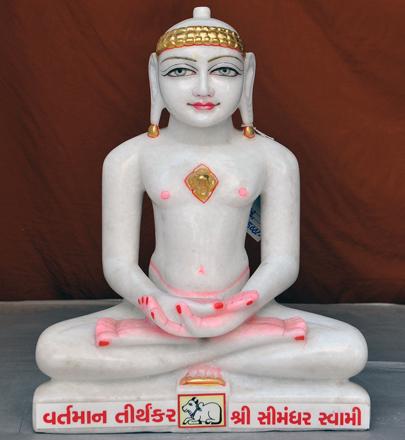"""Picture of 15SW9 Super White Simandhar Swami 15"""" Murti 15SW9"""