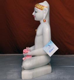 """Picture of 15SW11 Super White Simandhar Swami 15"""" Murti 15SW11"""