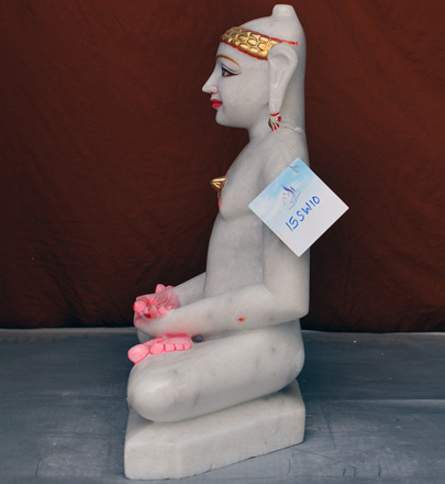 """Picture of 15SW10 Super White Simandhar Swami 15"""" Murti 15SW10"""