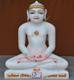 """Picture of 17S01 Super White Simandhar Swami 17"""" Murti 17S01"""