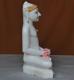 """Picture of 17S03 Super White Simandhar Swami 17"""" Murti 17S03"""