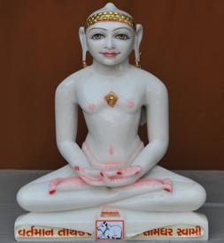 """Picture of 17S04 Super White Simandhar Swami 17"""" Murti 17S04"""