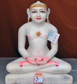 """Picture of 17SW9  Super White Simandhar Swami 17"""" Murti 17SW9"""