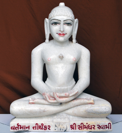 "Picture of 23S8  Super White Simandhar Swami 23"" Murti 23S8"