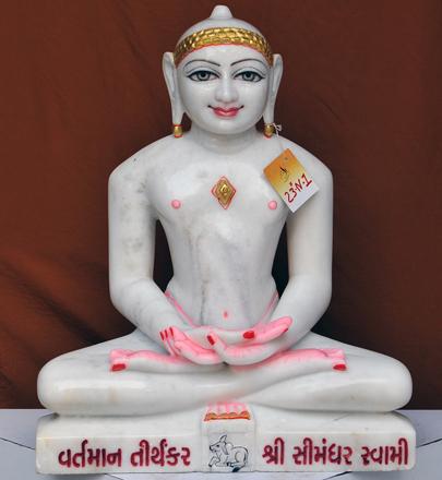 "Picture of 23N1  Normal White Simandhar Swami 23"" Murti 23N1"