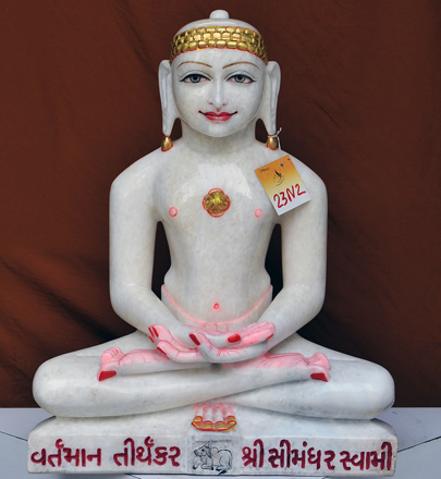 "Picture of 23N2  Normal White Simandhar Swami 23"" Murti 23N2"