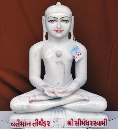 """Picture of 23S3 Super White Simandhar Swami 23"""" Murti 23S3"""