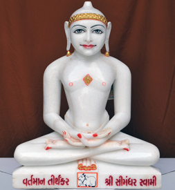 "Picture of 21N5 Normal White Simandhar Swami 21"" Murti 21N5"
