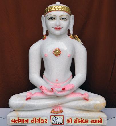 "Picture of 21N4 Normal White Simandhar Swami 21"" Murti 21N4"