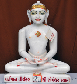 "Picture of 21N3 Normal White Simandhar Swami 21"" Murti 21N3"