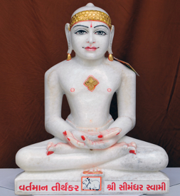 "Picture of 19N3 Normal White Simandhar Swami 19"" Murti 19N3"