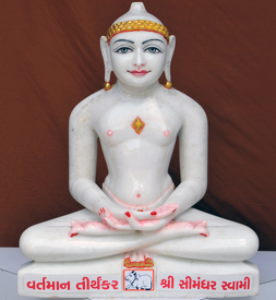 "Picture of 19N2 Normal White Simandhar Swami 19"" Murti 19N2"