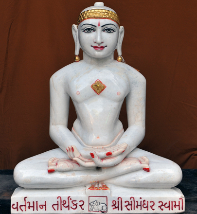 """Picture of 25NW2  Normal White Simandhar Swami 25"""" Murti 25NW2"""