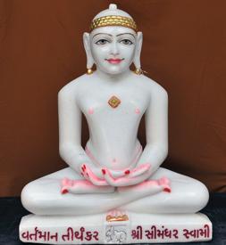 """Picture of 25SW2  Super White Simandhar Swami 25"""" Murti 25SW2"""