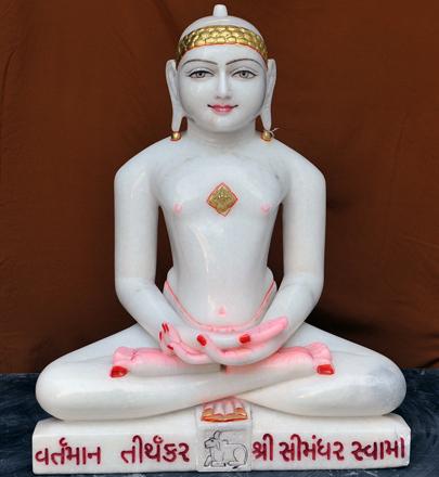 """Picture of 25SW1  Super  White Simandhar Swami 25"""" Murti 25SW1"""