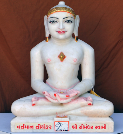 "Picture of 15N1 Normal White Simandhar Swami 15"" Murti 15N1"