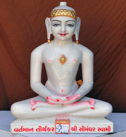 "Picture of 15N8 Normal White Simandhar Swami 15"" Murti 15N8"