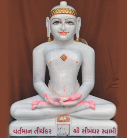 "Picture of 35NW1 Normal White Simandhar Swami 35"" Murti 35NW1"