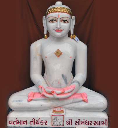 "Picture of 41NW1 Normal White Simandhar Swami 41"" Murti 41NW1"