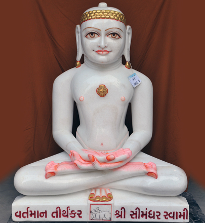 """Picture of 41SW2 Super White Simandhar Swami 41"""" Murti 41SW2"""