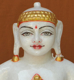 """Picture of 11NW46 Normal White Simandhar Swami 11"""" Murti 11NW46"""