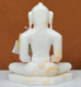 """Picture of 9NW28 Normal White Simandhar Swami 9"""" Murti 9N28"""
