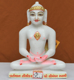 """Picture of 9NW52 Normal White Simandhar Swami 9"""" Murti 9N52"""